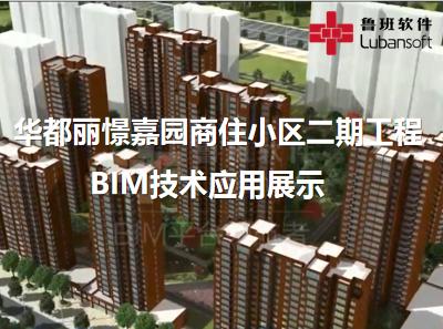 华都丽憬嘉园商住小区二期工程:BIM技术应用展示