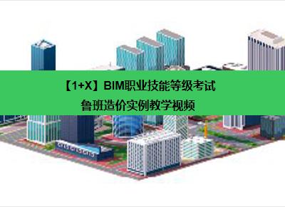 【1+X】BIM职业技能等级考试——鲁班造价实例教学视频