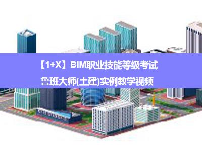 【1+X】BIM职业技能等级考试——鲁班大师(土建)实例教学视频
