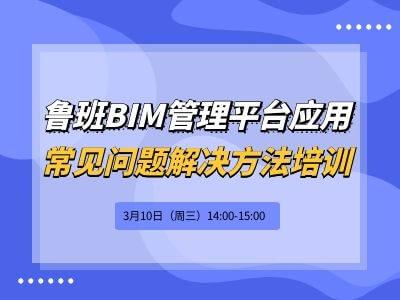 鲁班BIM管理平台应用常见问题解决方法培训
