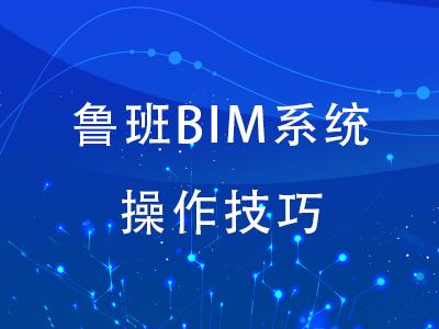 鲁班BIM系统操作技巧