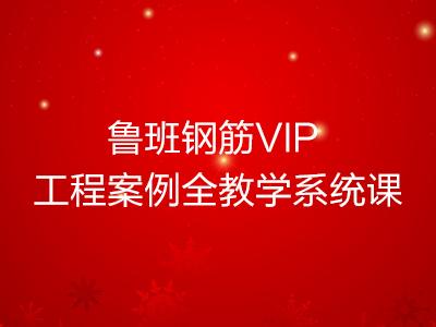 鲁班钢筋VIP 工程案例全教学系统课