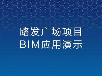 路发广场项目BIM应用虚拟建造视频