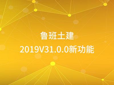 鲁班土建2019V31.0.0新功能